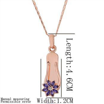 18KGP N201 Flower Shoes 18K Gold Plated Pendant Necklace Health Jewelry Nickel