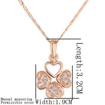 18KGP N188 Leaf 18K Gold Plated Pendant Necklace Health Jewelry Nickel Free