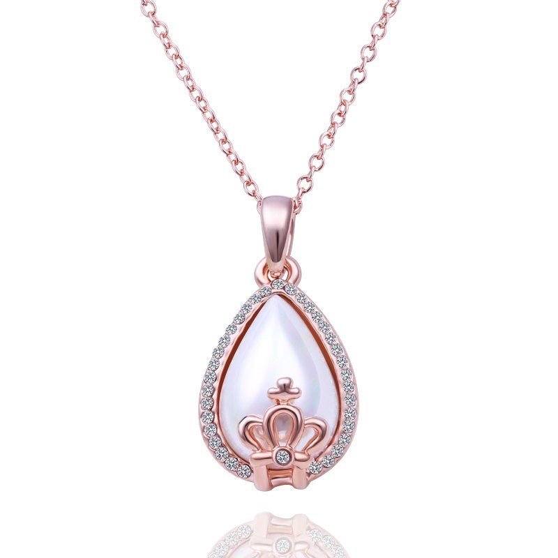 18KGP N499 Water Drop Crown 18K Gold Plated Fashion Jewelry Nickel Free Pendant
