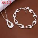 SPCS613 Factory Price! Free shipping Wholesale silver plated set fashion jewelry sets