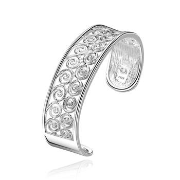 B220 Free shipping 925 silver plated bangle,zircon inlay