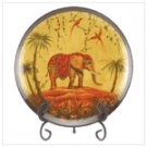 #37924 Elephant Plate with Stand