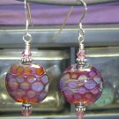 CIRCLES Lampwork Boro Glass Beads Earrings