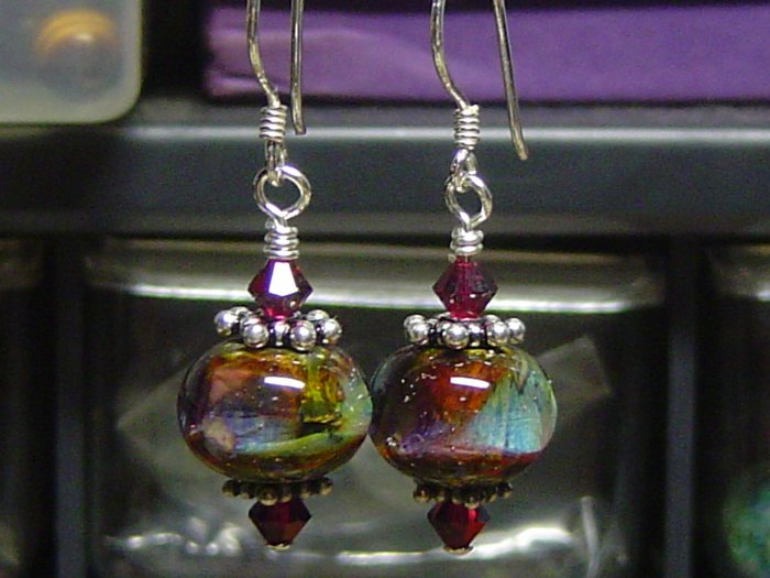 MEDITATION Lampwork Glass Beads Earrings