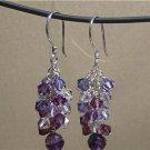 SWAROVSKI CRYSTALS & FLUORITE Gemstones Earrings