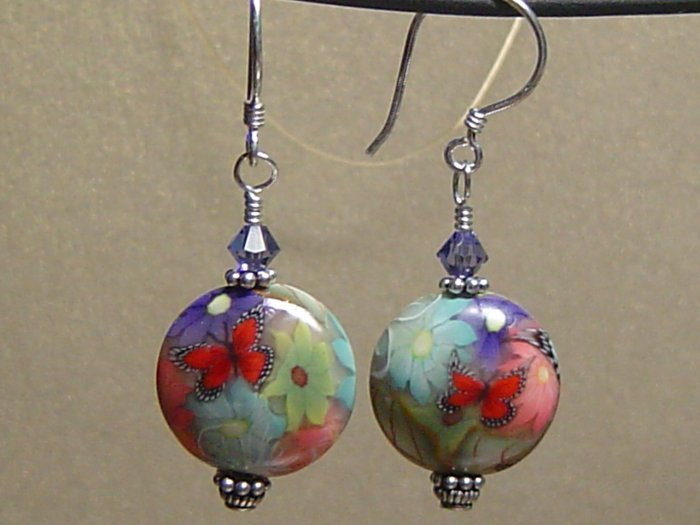 BUTTERFLY I Polymer Clay Earrings - KM