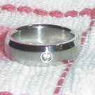 Stainless Steel Ring with Crystal