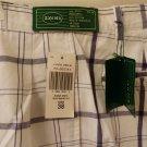 Mens IZOD Blue White Plaid Golf Shorts Size 38 Cotton NWT