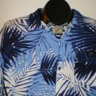 Cabana Joe Mens  Button Front Shirt Size LARGE Blue Rayon