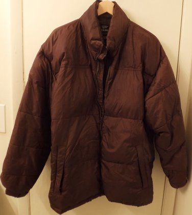 Mens Steve & Barry Double Down Jacket Brown 3XXXL