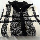 Plus Size Womens Sweater Dress Barn Black White Size 3X Vintage