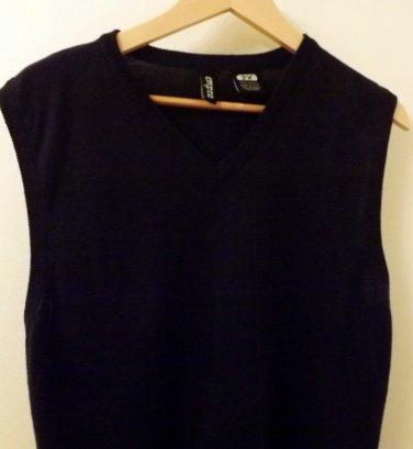 Mens Empra Tennis Vest V-neck Argyle Navy Blue Size 2XXL