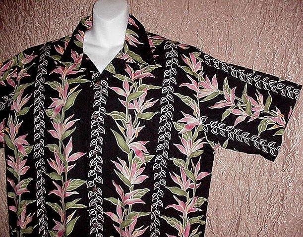 HAWAIIAN SHIRT Classic Happy Hour PAU HANA Aloha BIRD of PARADISE Vintage Repro Men's Size XL!