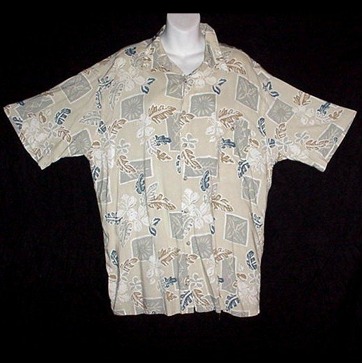 HAWAIIAN SHIRT Classic Summer PIERRE CARDIN Vintage 80's Tropical Print ALOHA Men's Size L!