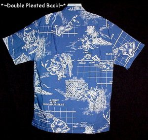 HAWAIIAN SHIRT Vintage 60's HOWEN HAWAII Floral PARROTS ALOHA CHART of the ISLES Men's Size L!