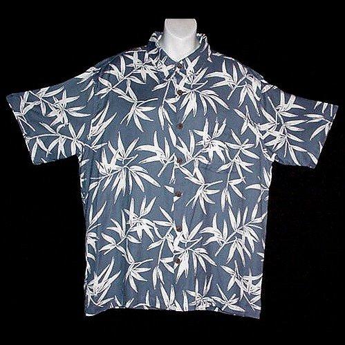HAWAII SHIRT Classic Bamboo HAWAIIAN SANDS CLUB Tropical Floral Print ALOHA Men's Size M!