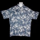 HAWAII SHIRT Classic Bamboo HAWAIIAN SANDS CLUB Tropical Floral Print ALOHA Men's Size M!