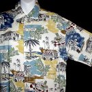 HAWAIIAN SHIRT Classic Cruise BEACH COAST VACATION SCENE Print Men's Size S NEW w/TAGS!