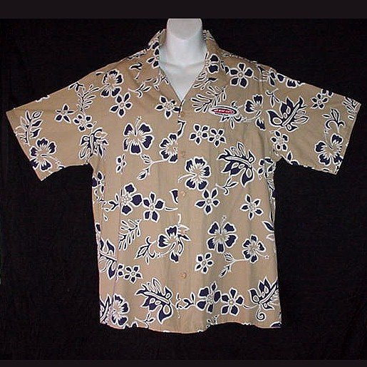 HAWAIIAN SHIRT Aloha OFFICIAL ALL STAR CAFE Honolulu HAWAII Horizontal Buttonholes Size XL!