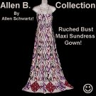 Hippy Glam Dress ALLEN SCHWARTZ Maxi Gown FLOOR LENGTH Summer-Fall Day-Evening A.B.S. Sz XS-S!