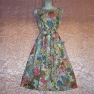 Vintage 1960s Day Dress Spring Floral Wraparound vlv Sleeveless Sweet Details Sz M!