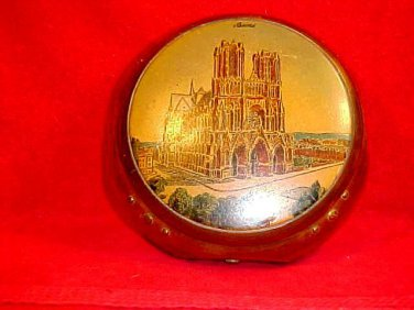 Vintage Reims Cathedral Hand Painted French Box signed by famed artist S. Kolesnikoff