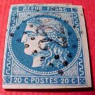 France Scott # 43 A9 20c Ceres Bordeaux Issue Cancelled