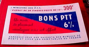 France Scott # 753 A252 Sheet of 20 Double Book RARE