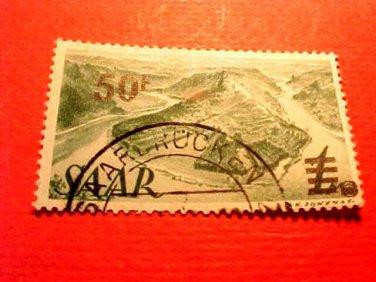 Saar Stamp Scott # 187a A42 Printing 1 Canceled
