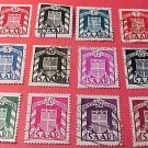 Saar Stamp Set Scott # O27-O38 01 Precanceled