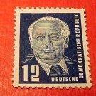 German Democratic Republic Scott's # 54 A9 12pf Pres Wilhelm Pieck 1950-51