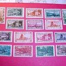 Saar Stamp set 139-153 canceled Nov.1 1934