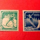 "German Democratic Republic Scott's set #94&95 A25"" Winter Sports"" Jan.12,1951"