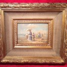"""Victorian Impressionanist """"La Plage"""" in period Frame circa 1900"""