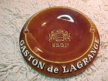Vintage Majolica Gaston de Lagrange VSOP Cognac Ashtray de Proceram, France #46