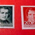 "German GDR Scott's 284-285 A81 Full set""Heinrich Heine"" Feb.17,1956"