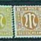 German Scott's set #3N2a-3N13a OS1 1945-46 Allied Military Occupation Type l