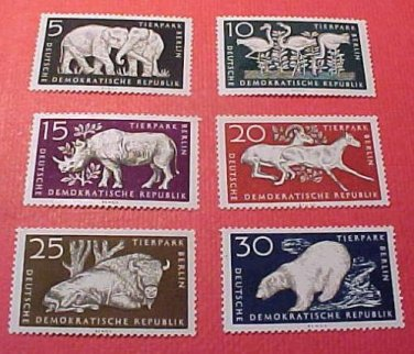 "German GDR Scott's 317-322 A99 Full set""Design in Gray"" Dec.14,1956"
