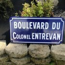 French street sign from Saint Dizier in the Champagne Region of France