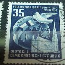 """German Democratic Republic Scott's set #119 A34"""" Globe and Dove"""" Dec.8 .1952"""