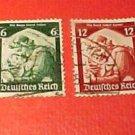 """German Scott's #448-451 """"Germania Welcoming Home the Saar"""" Jan.16,1935"""