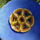 Vintage Gien Majolica Oyster Plate
