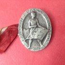 1929 Franz Wagner Figure Huguenin Silver Medal- Pin