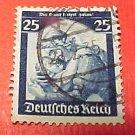 """German Scott's #450 A74 """"Germania Welcoming Home the Saar"""" Jan.16,1935"""