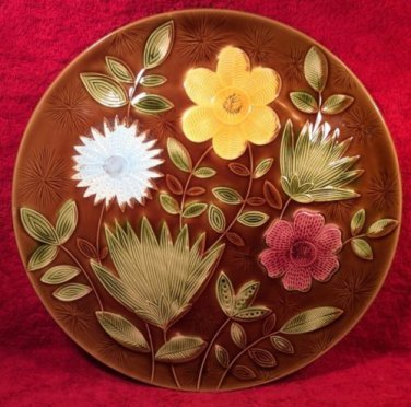French Vintage Majolica from Sarreguemines, Fantastic Platter