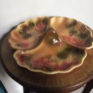 "French St. Clement Majolica ""Chips & Dip"" Serving Platter"
