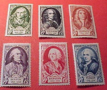 France set B238-B243 SP181 M/HN/OG Nov.14,1949
