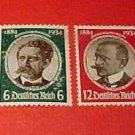 German Scott Set #432-435 A66 Designs / Portraits June 30,1934