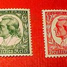 German Scott's #446-447 Nov.4,1934 Friederich von Schiller