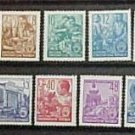 "German Democratic Republic Scott's set #155-171 A43 ""Designs"" 1953 Rare Full set"